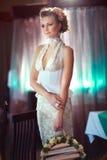 Pretty graceful bride Stock Photos