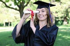 Pretty Graduation Woman Stock Photo