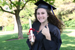 Pretty Graduation Woman Stock Photo