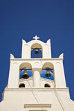 Pretty Greek Church Bell Tower Stock Images