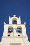 Pretty Greek Church Bell Tower. A Pretty Greek Church Bell Tower on the island of Santorini, Greece Stock Images