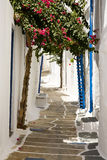 Pretty Greek Pathway, Ios, Greece. A pretty greek pathway on the island called Ios, Cyclades, Greece Royalty Free Stock Image
