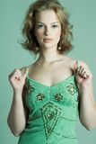 Pretty in Green Stock Photography