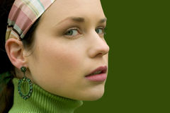 Pretty in Green stock images