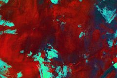 Pretty grunge randomly painted canvas, fabric with color paint spots and blots texture for design purposes. Design grunge randomly painted canvas, fabric with stock image