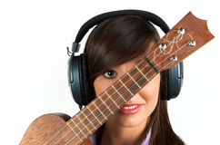 Pretty guitar player Stock Photos