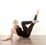 Pretty gymnast Stock Photo