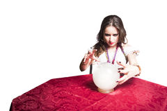 Pretty gypsy with her crystal ball Stock Photo