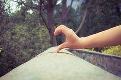 Pretty half Love Heart Stock Photo