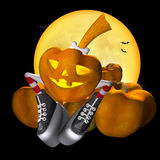 Pretty Halloween pumpkin Stock Images