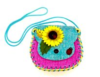 Pretty handmade bag very colorful royalty free stock photography