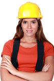 Pretty handywoman Stock Photos