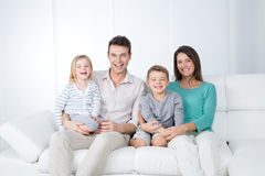 Pretty happy family Stock Photography