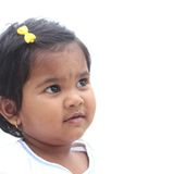 Pretty & happy indian toddler girl child dreaming Stock Images