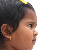 Pretty & happy indian toddler girl child looking Stock Image