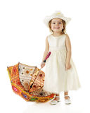 Pretty with Her Parasol Royalty Free Stock Images