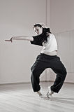 Pretty hip-hop girl in dance Stock Photos