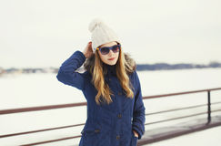 Pretty hipster girl in urban style Stock Photography