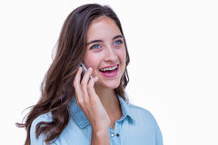 Pretty hipster having a phone call Stock Photos