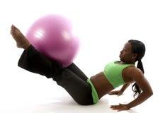 pretty hispanic african american woman exercising Royalty Free Stock Photos