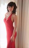Pretty Hispanic/Asian Teen in Gown Stock Photos