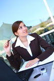 Pretty Hispanic Business Woman Royalty Free Stock Images