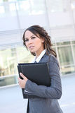Pretty Hispanic Business Woman Stock Photo