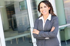 Pretty Hispanic Business Woman Royalty Free Stock Photos