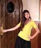 Pretty hispanic girl Stock Photo