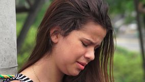 Hurt And Tearful Female Teen Stock Images