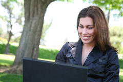 Pretty Hispanic Woman Stock Photography