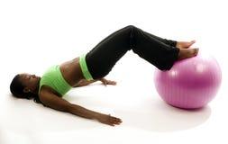 Pretty hispanic woman exercising Stock Image