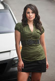 Pretty Hispanic Woman Outdoors Royalty Free Stock Photography