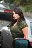 Pretty Hispanic Woman Outdoors Royalty Free Stock Image