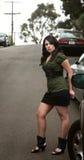 Pretty Hispanic Woman Waiting Royalty Free Stock Image