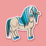 Pretty horse sticker Royalty Free Stock Photo