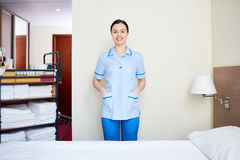 Pretty hotel maid Royalty Free Stock Photography
