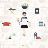 Pretty Housekeeper Stock Photography