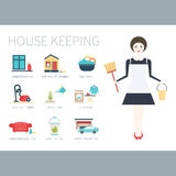 Pretty Housekeeper Stock Image