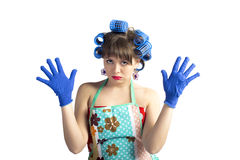 Pretty housemaid Stock Image
