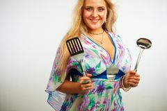 Pretty housewife Stock Photography