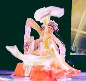 Pretty Huadan 5 -Chinese Classical Dance-Graduation Show of Dance Department. Dance `Qiaohuadan` skillfully combines Huadan`s hand, eye, body, step and other stock images