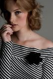 Pretty In Stripe Royalty Free Stock Images