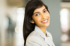 Pretty indian businesswoman Stock Photography