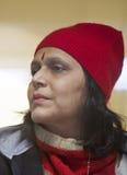Pretty Indian lady apre ski stock images
