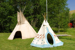Pretty indian teepees Stock Photography