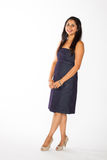 Pretty Indian Woman in blue Dress Stock Image