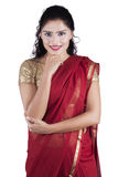 Pretty indian woman with traditional clothes Stock Photo