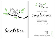 Pretty invitation stock illustration