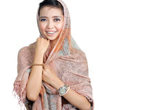 Pretty islamic woman smiling Royalty Free Stock Photo